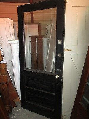 Exterior Antique Wood Door Large Bevelled Glass 36 X 83