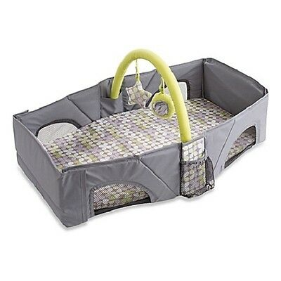 NEW Summer Infant® Infant Travel Bed Gray and Green FREE SHIPPING