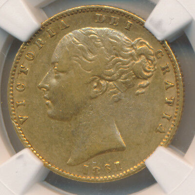 Great Britain GOLD Sovereign 1861 - NGC XF 45