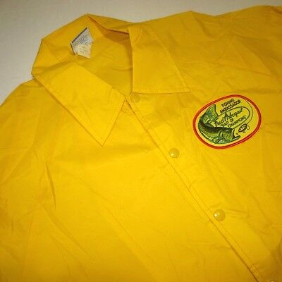 Vtg 70S 80S Fred Arbogast Jitterbug Fighing Fish Lure Nylon Snap Champion Jacket