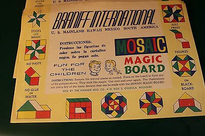 Vintage Braniff International Mosaic Magic Board Collection Of 7