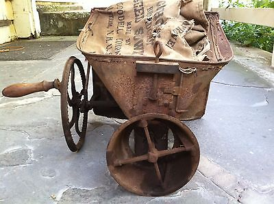 Seed Spreader Sower Circa 1910 Antique Cahoon Hand Crank Broadcast Agricultural