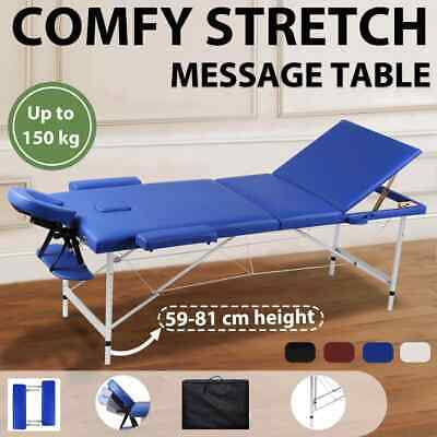 4 Colours Portable 3 Section Aluminium Massage Tables Chairs Foldable Therapy