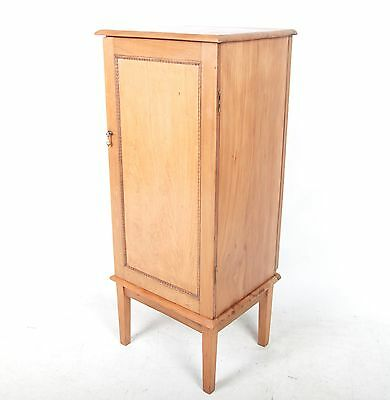 Antique Vintage Record Cabinet French Pale Walnut Fine Quality