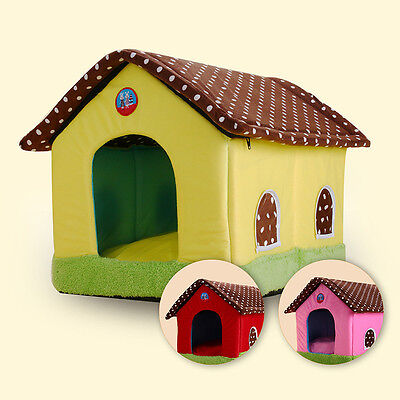 Newly Pet House Stylish Colorful Dog Cat Nest Washable Kennel Indoor Comfy Bed