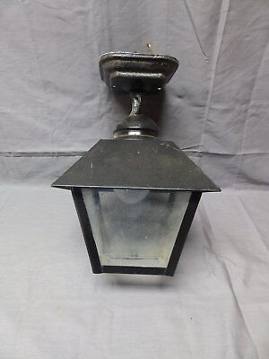 Vintage Brass Arts Crafts Exterior Ceiling Light Fixture Glass Old 1953-16