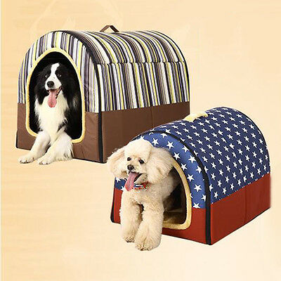 Hot Pet House Dog Cat Dual-head Zipper Puppy Kitten Bed Home Sleeping Cushion