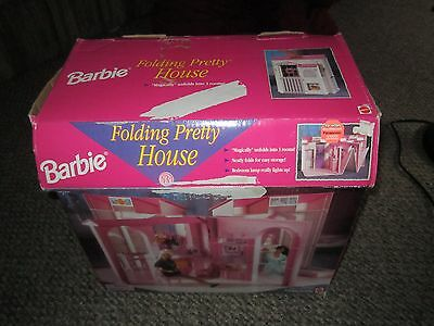 1996 Barbie Folding Pretty House w/ Box instructions Some Accessories