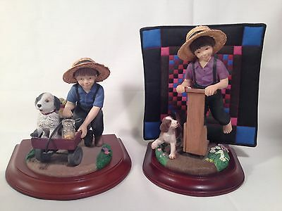 Willits Amish Heritage Collection Figurines 1993 Limited Edition 30016 30017