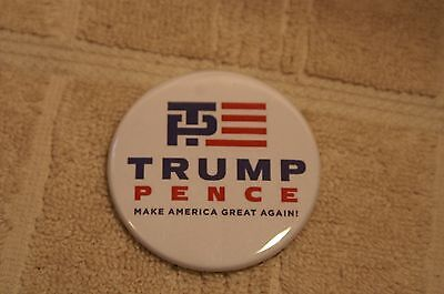"""Trump Pence Pin On Make America Great Again Button 2 1/4"""""""
