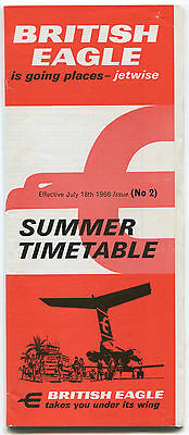 British Eagle Timetable Summer 1966 No 2 International Airlines