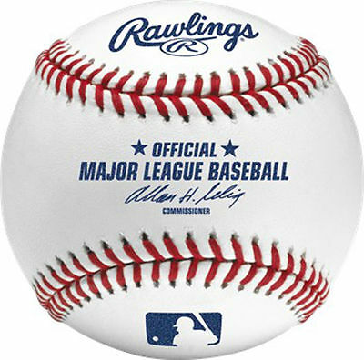 12 Authentic Rawlings Official Major League Bud Selig New Baseballs