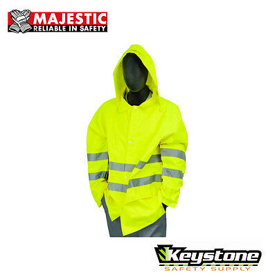 Majestic M-Safe 75-1351 High Visibility Rain Jacket Class 3 Medium