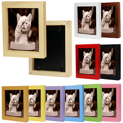 "5"" 6"" 7"" Photo Frame Retro Home Decor Wooden Picture Wall Mounted Hanging Frame"