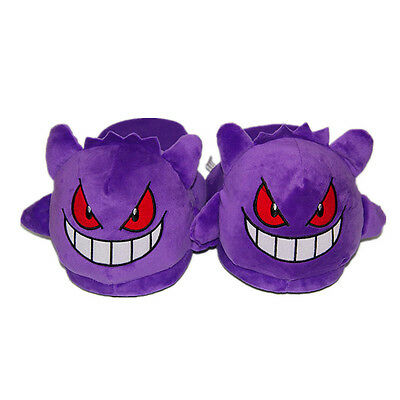 Pokemon Center Haunter Plush Heel without Cover Slippers  Soft Shoes Adult