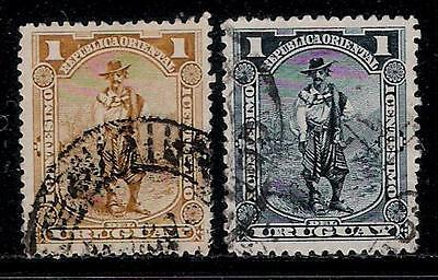 REPUBLIC OF URUGUAY 1895 Old stamps - Gaucho ( Cowboy of South America )
