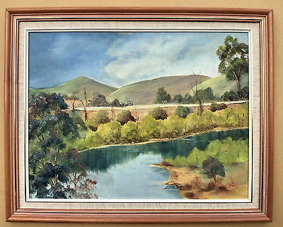 Norma Smith  Tambo River  Framed Oil painting
