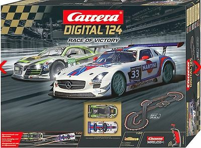 Carrera Digital 124 Race of Victory 2.4GHz Wireless Slot Car Set 23621