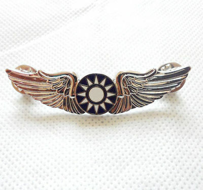 WW2 Chinese KMT Kuomintang Flying Tiger Wings Hat Pin Badge Silver