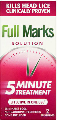 Full Marks Head Lice Solution (100ml) FREE UK DELIVERY