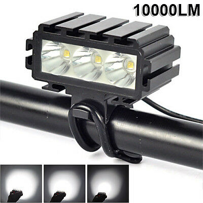 10000LM 3X XML2 LED Bike Bicycle HeadLight Rechargeable Cycle Lamp Flashlight