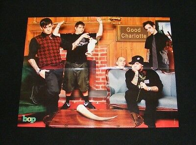 GOOD CHARLOTTE magazine clippings lot with POSTER No2