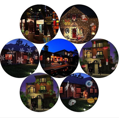 12 Pattern LED Laser Landscape Projector Light Lamp Christmas Xmas Party Outdoor