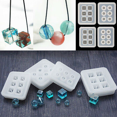 DIY Silicone Bead Mold Bracelet Pendant Jewellery Making Mould Resin Craft Tool