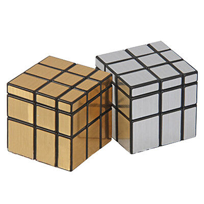 3x3x3 Gold Silver Magic Cube Puzzle Ruler Mirror Intelligence Game KidsToy