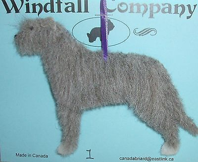 Grey with White Irish Wolfhound Dog Plush Christmas Canine Ornament # 1 by WC