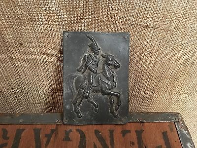 Early 19th Century Lead Plaque Depicting a Hussar
