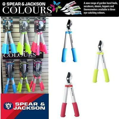 Spear And Jackson Bypass Loppers Choice Of Pink Blue Green Colours Range 56551