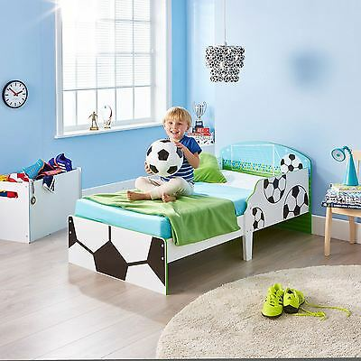 Football Toddler Bed With Protective Side Panels & 3 Mattress Options Free P+P