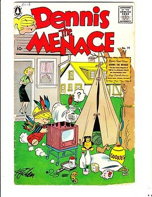 Dennis the Menace 19 (1956): FREE to combine- in Good condition
