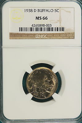 1938-D NGC MS66 Buffalo Nickel!! #A2575