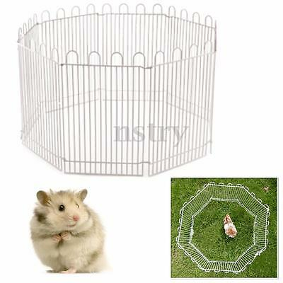 Iron Folding Pet Puppy Cat Rabbit Hamster Mouse Guinea Pig Playpen Fence Cage
