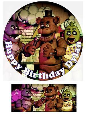 Five Nights at Freddy's Personalized Edible Cake toppers Precut Icing/Wafer Card