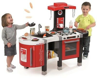 Red Smoby Tefal French Touch Kitchen New 2015 model 45 Accessories Kids Playset