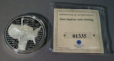2001 American Mint State Quarter Virginia Inlay Proof Coin - COA