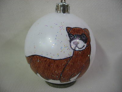 New Handpainted Baby Ferret Christmas Ornament
