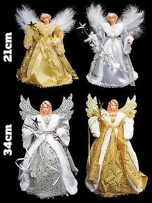 Christmas Tree Angel Topper Fairy Traditional Festive Decoration Gold Silver
