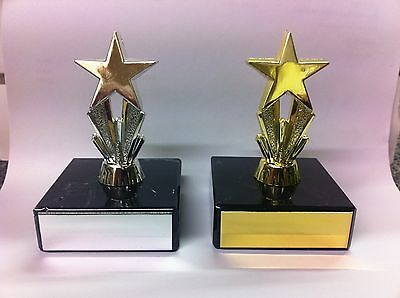 Mini Star Trophy,Award,Dance,School,Multisport,83mm,Gold, Silver,FREE Engraving
