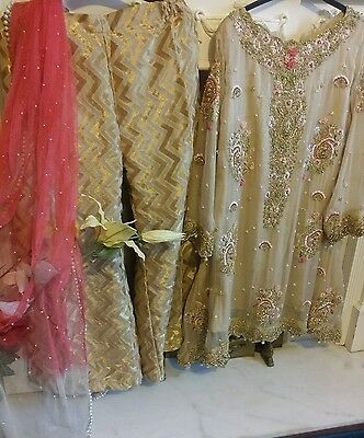 Pakistani elan wedding partywear embroided dress. made on order. 4 weeks process