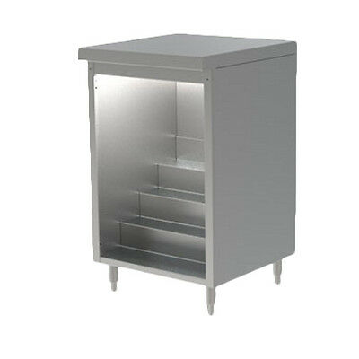 "Perlick DBLS-24 24"" Non Refrigerated Back Bar Liquor Step Cabinet"