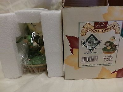 Charming Tails Candle Topper Mib Hangin' Around Dean Griff