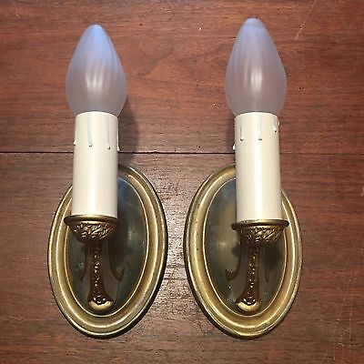 Pair 2 Electric Candle Unique Vintage Wall Sconces Deco Wired