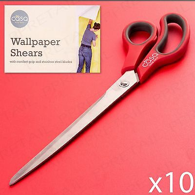 """10x DECORATING SHEARS 6"""" Long Stainless Steel Blade Wallpaper Scissors/Cutters"""