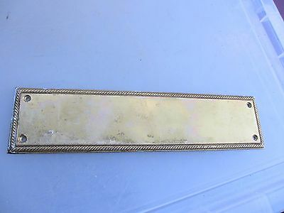 Vintage Solid Brass Finger Plate Push Door Handle Rope Antique Georgian Style