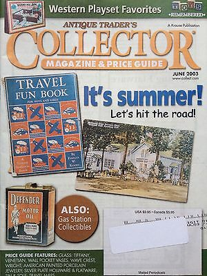Antique Trader's Collector Magazines & Price Guides~June 2003 Western Playsets