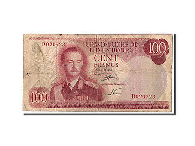 Luxembourg, 100 Francs, 1970, KM:56a, 1970-07-15, VG(8-10)
